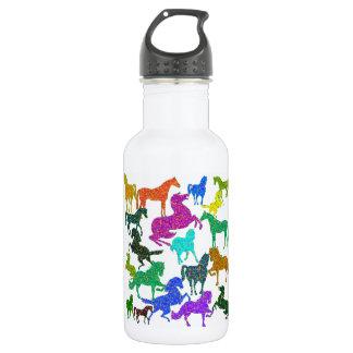 "Garrafa D'água Cavalos do arco-íris - ""Dotty sobre cavalos! """
