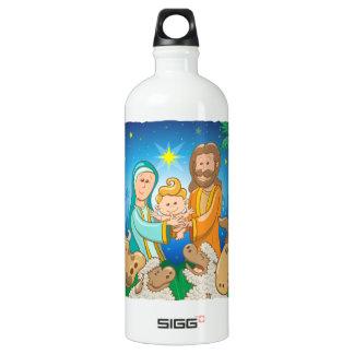 Garrafa D'água Cena doce da natividade do bebê Jesus