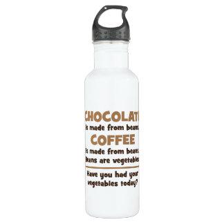Garrafa D'água Chocolate, café, feijões, vegetais - novidade