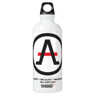 Garrafa D'água De Alumínio Alliance do libertário à esquerda da hidratação