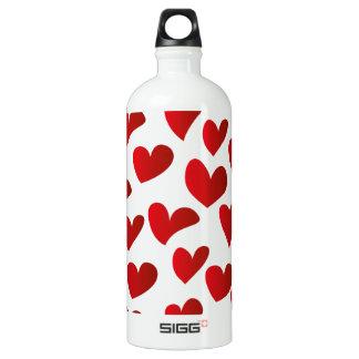 Garrafa D'água De Alumínio Amor vermelho pintado teste padrão do coração da