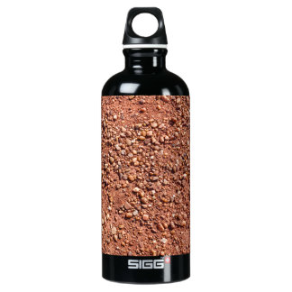 Garrafa D'água De Alumínio Areia e seixos vermelhos do ocre