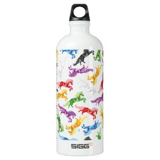 Garrafa D'água De Alumínio Cavalos de salto coloridos do teste padrão