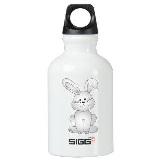 Garrafa D'água De Alumínio Clipart branco do coelho