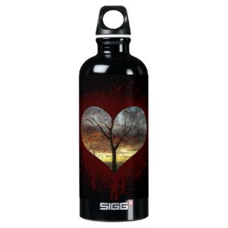 Garrafa D'água De Alumínio Cofre forte a árvore de coração de sangramento da