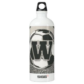 Garrafa D'água De Alumínio Letra W do monograma do futebol do medalhista de