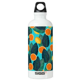 Garrafa D'água De Alumínio limões e cerceta das laranjas