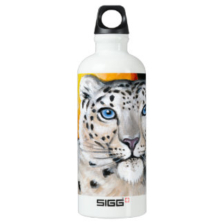 Garrafa D'água De Alumínio Lua do leopardo de neve