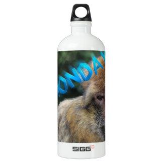 Garrafa D'água De Alumínio Macaco triste sobre segunda-feira