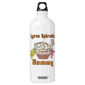 Garrafa D'água De Alumínio Mamã do gato do Afrodite de Chipre