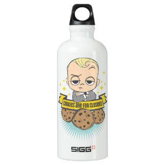 Garrafa D'água De Alumínio O bebê & os biscoitos do bebê | do chefe são para