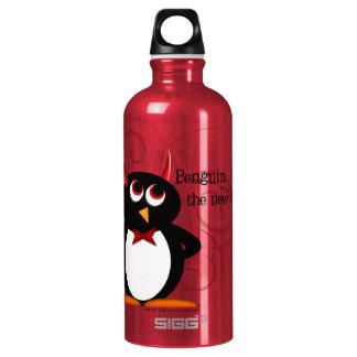 Garrafa D'água De Alumínio Pinguim, o preto novo