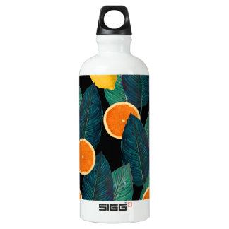 Garrafa D'água De Alumínio preto dos limões e das laranjas