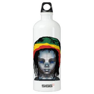 Garrafa D'água De Alumínio Robótica Rastafarian