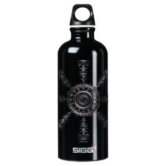 Garrafa D'água De Alumínio Rune☼ ancestral e espiritual do ☼Aegishjalmur -