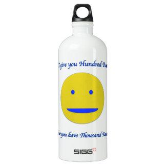 Garrafa D'água De Alumínio Sorriso à vida