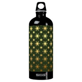 Garrafa D'água De Alumínio Teste padrão elegante da folha de ouro do floco de