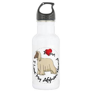 Garrafa D'água Eu amo meu cão de galgo afegão