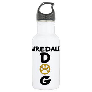 Garrafa D'água Eu amo meu design do cão de Airedale