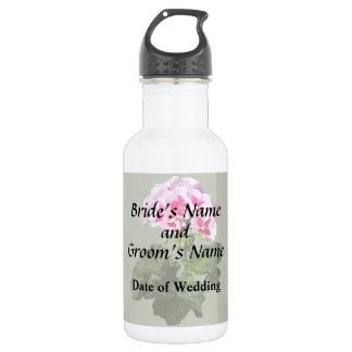 Garrafa D'água Fontes vermelhas e cor-de-rosa do casamento do