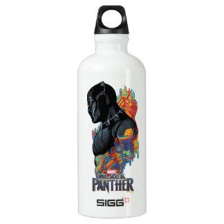 Garrafa D'água Grafites tribais da pantera preta de pantera preta