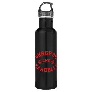 Garrafa D'água Hamburgueres e Barbells - motivação de
