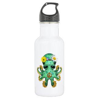 Garrafa D'água Hippie verde bonito do polvo do bebê