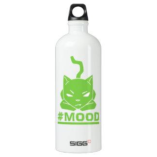 Garrafa D'água Ilustração do logotipo do limão do gato do #MOOD