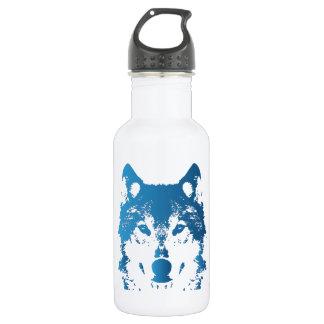 Garrafa D'água Lobo do azul de gelo da ilustração