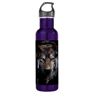 Garrafa D'água Lobo indiano - lobo cinzento