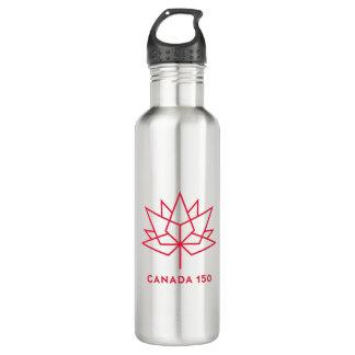 Garrafa D'água Logotipo do oficial de Canadá 150 - esboço