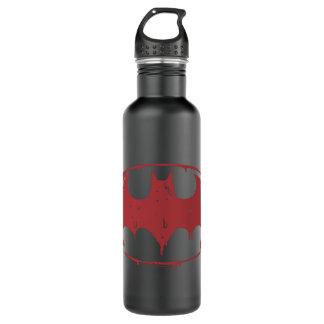 Garrafa D'água Logotipo Oozing do bastão vermelho de Batman |