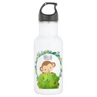 Garrafa D'água Macaco bonito do safari olá!