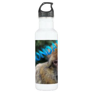 Garrafa D'água Macaco triste sobre segunda-feira
