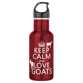 Garrafa D'água Mantenha a calma e ame cabras