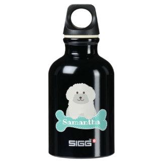 Garrafa D'água Monograma encaracolado macio bonito do cão de