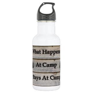 Garrafa D'água O que acontece em estadas do acampamento no