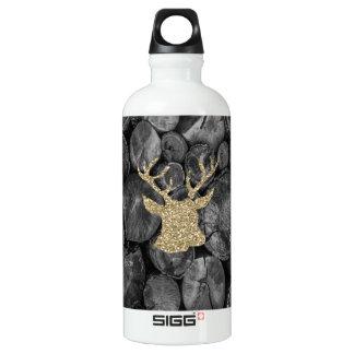 Garrafa D'água O veado do brilho do ouro/madeira dos cervos