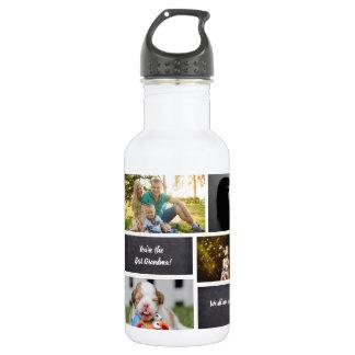 Garrafa D'água Personalizado, colagem da foto, costume