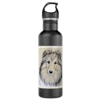 Garrafa D'água Pintura do Sheepdog de Shetland - arte original