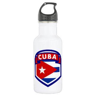 Garrafa D'água Protetor cubano da bandeira