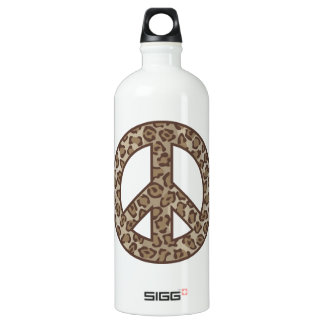 Garrafa D'água Símbolo de paz do leopardo