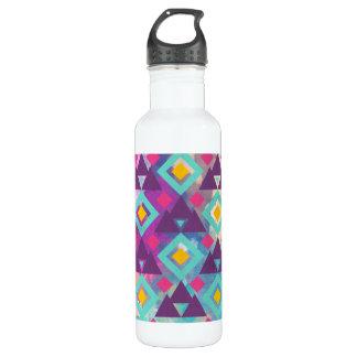 Garrafa D'água Teste padrão vibrante colorido do batik do boho da