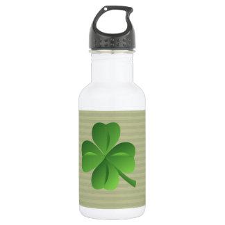 Garrafa D'água Trevo afortunado irlandês na moda elegante