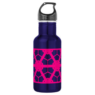 Garrafa D'água Vagabundo cor-de-rosa da praia do teste padrão de