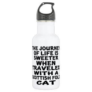 Garrafa D'água Viajado com o gato da dobra do Scottish