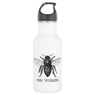 Garrafa D'água Vintage do zangão da abelha de trabalhador
