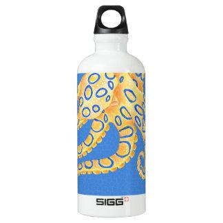 Garrafa D'água Vitral azul do polvo