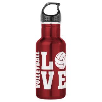 Garrafa De Aço Inoxidável Amor do voleibol