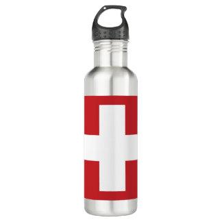 Garrafa De Aço Inoxidável Bandeira da suiça